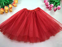 Юбка карнавальная из фатина, цвет красный, размер 30 см