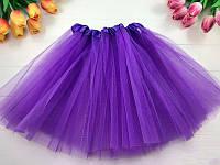 Юбка карнавальная из фатина, цвет фиолетовый, размер 30 см
