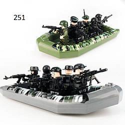 12 фигурок с лодками SWAT спецназовцы военные армия Лего Lego