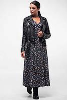 Платье из штапеля с длинным рукавом с 42 по 52 размер