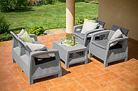 Набор садовой мебели Corfu Set Light Grey ( светло-серый ) из искусственного ротанга, фото 1