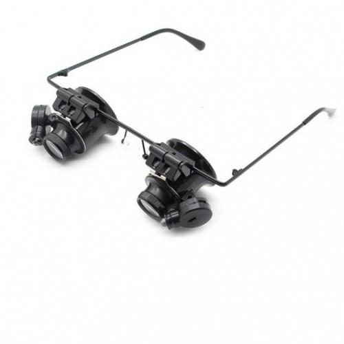 Ювелирные очки MAGNIFIER 9892A-II Led 20x