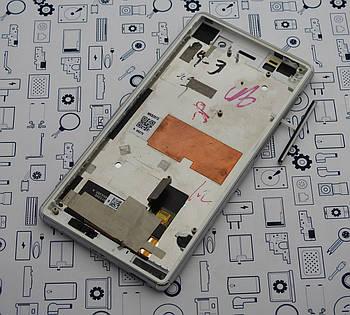 Дисплей Sony M5 E5603 модуль белый Сервисный оригинал с разборки