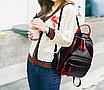 Рюкзак женский Backpack Trend Черный с красной строчкой, фото 3