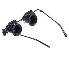 Ювелирные стеклянные очки MAGNIFIER 9892A-II с Led подсветкой 20x увеличением, фото 2