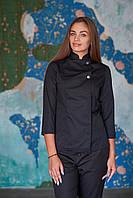 Китель поварской черный, униформа для повара, индивидуальный пошив, все размеры