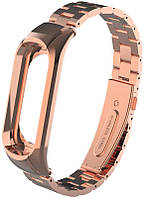 Ремешок UWatch Metal Strap For Xiaomi Mi Band 3 Rose Gold