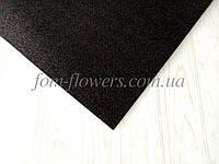 Глиттерный фоамиран, 60х40 см, черный., фото 1