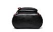 Рюкзак женский Backpack Trend Черный с красной строчкой, фото 6