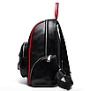 Рюкзак женский Backpack Trend Черный с красной строчкой, фото 5