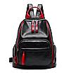 Рюкзак женский Backpack Trend Черный с красной строчкой, фото 2