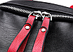Рюкзак женский Backpack Trend Черный с красной строчкой, фото 8
