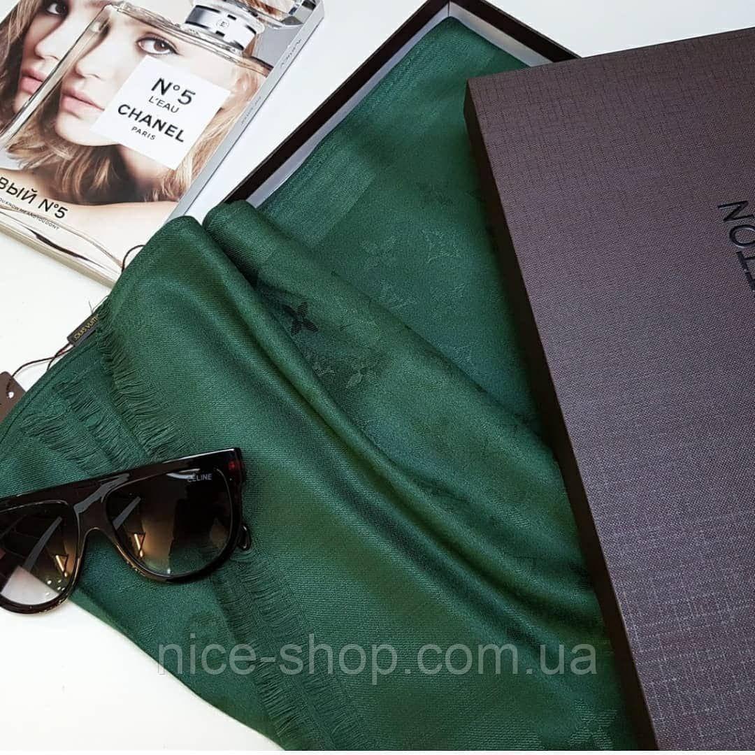 Палантин Louis Vuitton зеленый (травяной)