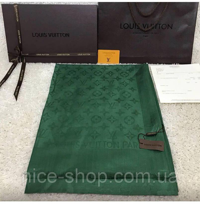 Палантин Louis Vuitton зеленый (травяной), фото 2