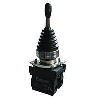 Кнопка-джойстик 2-позиционная с фиксацией (2НО) - металл IP65