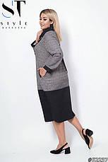 Платье женское стильное размеры: 50-56, фото 3