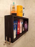 """Полка для ванной комнаты """"Бонн"""", дерево, венге, бесцветный лак, белая, орех, чёрный, серый."""