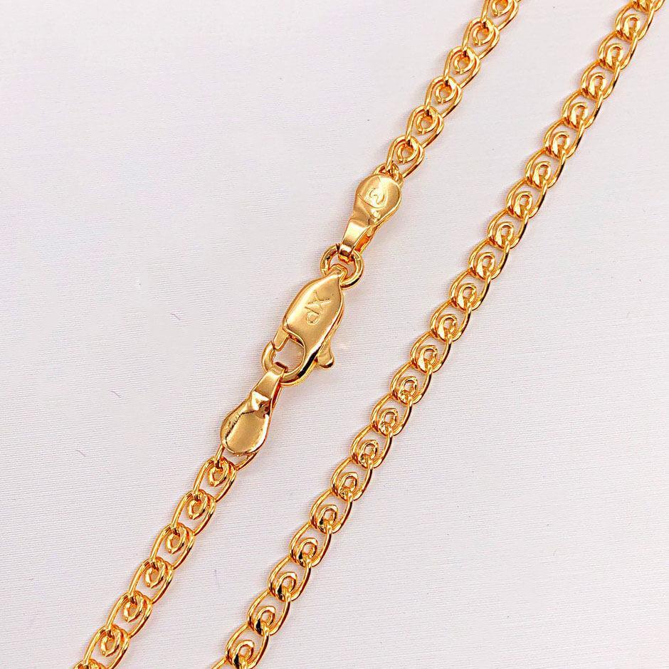 """Цепочка Xuping Jewelry 55 см х 3,5 мм """"Лав"""" медицинское золото, позолота 18К"""