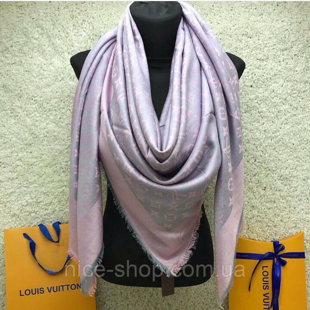 Платок Louis Vuitton пудрово-серый комби