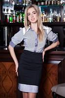 Блузка в английском стиле в тонкую полоску