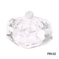 Стеклянная посуда для мономера с крышкой квадратной формы