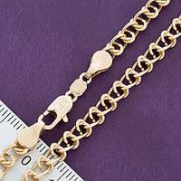 """Цепочка Xuping Jewelry 49 см х 4,5 мм """"Фантазийное плетение"""" медицинское золото, позолота 18К. А/В 4029"""