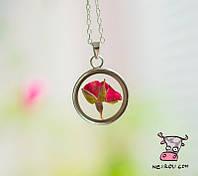 """Кулон """"Бутон розы. Цвет серебро. Модель 1"""