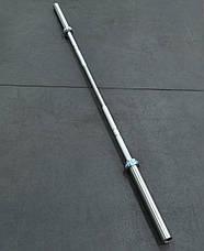 Гриф олимпийский для тяжелой атлетики и кроссфита 220 см, 650 кг, 6 подшипников, 28 мм, фото 2