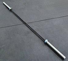 Гриф олимпийский для кроссфита, тяжелой атлетики 220 см, 650 кг, 6 подшипников, 28 мм (CrossFit)