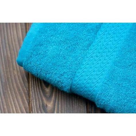 Полотенце махровое Soft touch 40х70 морская волна 400 г/м², фото 2
