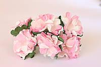 Бумажные хризантемы  3,5 см 6 шт/уп. розового цвета для творчества