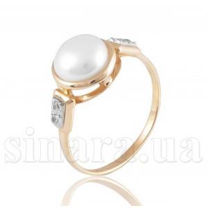 Золотое кольцо с жемчугом 1513