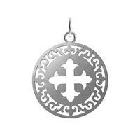 Медальон серебряный с Крестом