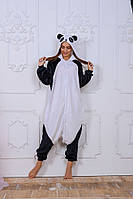 Пижама кигуруми Funny Mood Панда S Черно-белый