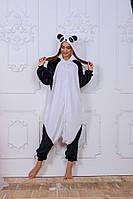 Пижама кигуруми Funny Mood Панда L Черно-белый S ( 148-159 см )
