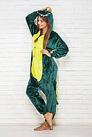 Пижама кигуруми Funny Mood Дино M Зеленый S ( 148-159 см )