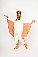 Пижама кигуруми Funny Mood Белка Летяга XL Бело-коричневый