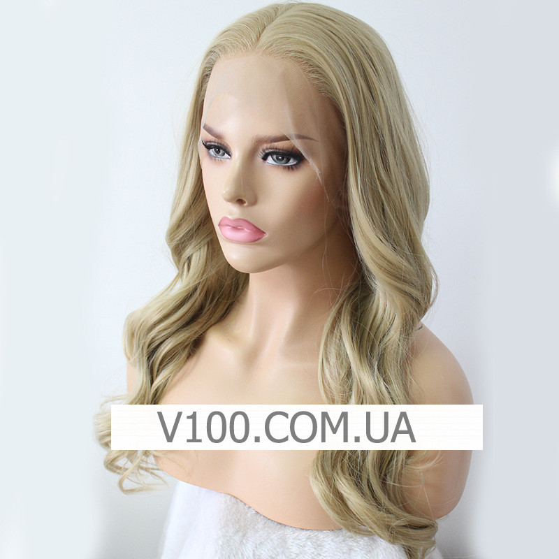 Натуральный блонд парик с шелковой вставкой (имитация кожи головы)