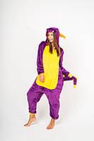 Пижама кигуруми Funny Mood Дракон XL Фиолетовый
