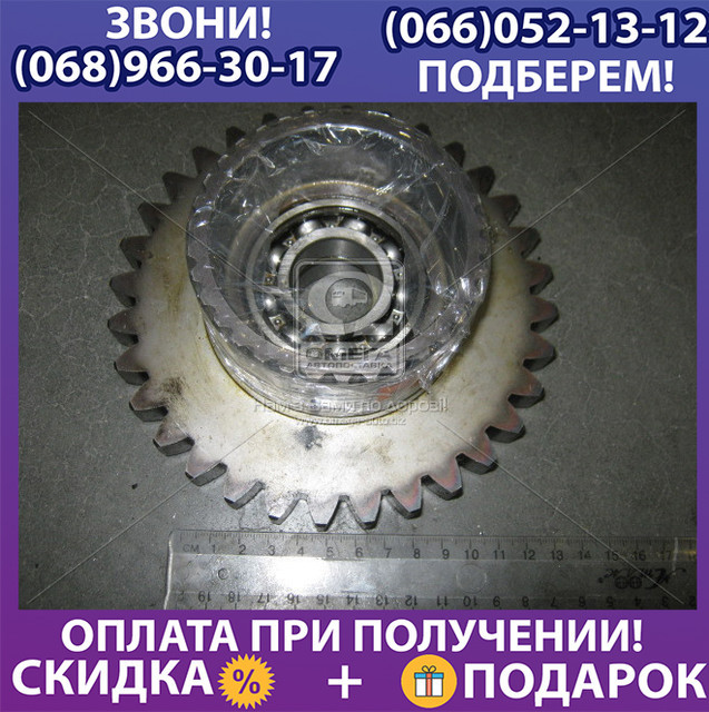 Шестерня  привода ПВМ МТЗ 1221 в сб. (пр-во МТЗ), (арт. 1221-1802040)