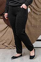 Брюки женские, цвет: Черный, размер: 52, 54, 56, 58, 60