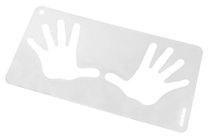 Трафарет IDPA руки 2  Алебарда, фото 2