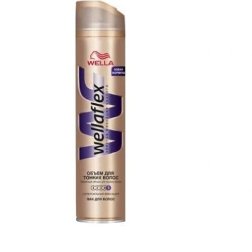 Wellaflex лак для волос объем для тонких волос суперсильная фиксация (5) 250 мл