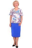 Изысканное летнее платье больших размеров модного кроя