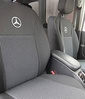 Чехлы на сиденья, авточехлы Mercedes Vito (1+1/1+2+2;подлокотник;3 диван) 9 мест 2014-2018 Elegant