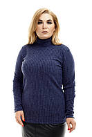 Джемпер женский, цвет: Синий, размер: 42-44, 46-48