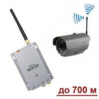 Комплект из беспроводной уличной камеры 800 TVL до 700 метров + приёмник видеосигнала (мод. LIB24W kit)