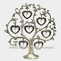 Фоторамка (Родовое дерево метал-7) 25х27х8см.