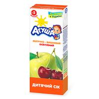 """Сок детский осветленный """"Яблоко-вишня"""" Агуша, 200мл от 3 мес."""