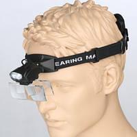 Лупа на голову MAGNIFIER 9892C с LED подсветкой Увеличение 1X-6X